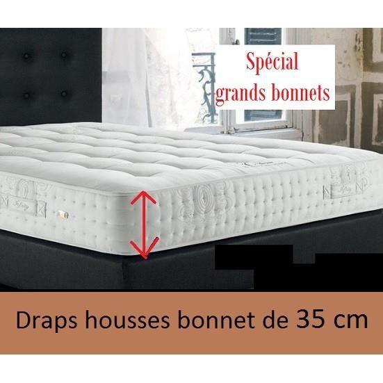 bonnet de 35 cm coton 57 fils drap housse 160x200 uni carmin linge maison des vosges qualit. Black Bedroom Furniture Sets. Home Design Ideas
