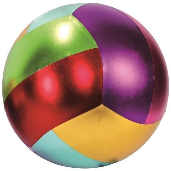 Grand ballon gonflable piscine diam tre 60cm m tal color - Piscine a balles gonflable ...