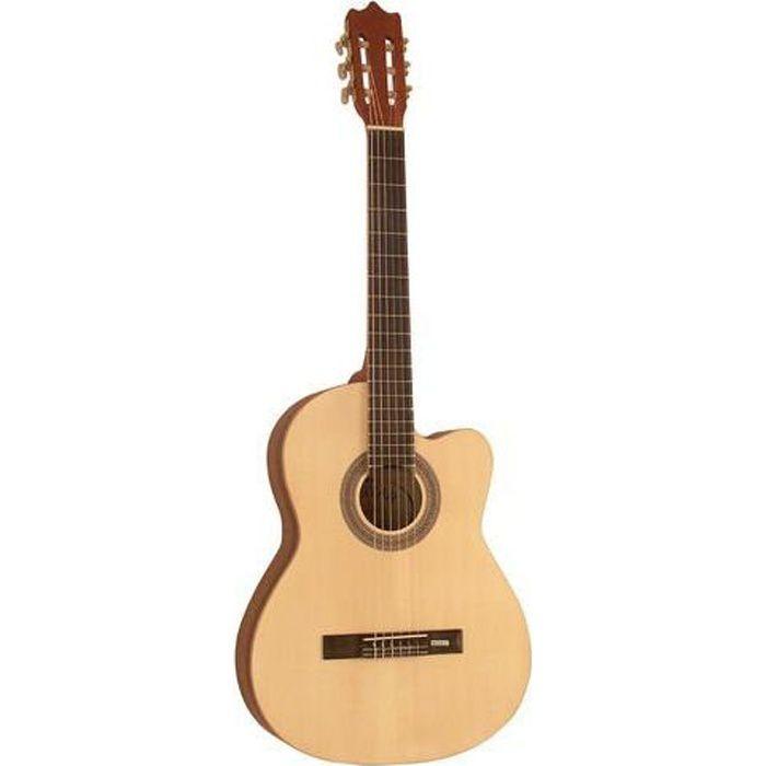 guitare classique electro pas cher achat vente les soldes sur cdiscount cdiscount. Black Bedroom Furniture Sets. Home Design Ideas