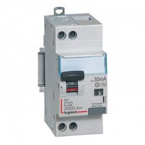 LEGRAND Disjoncteur différentiel DX? 4500 vis/vis U+N 230V 10A type HPI 30mA 6KA courbe C 2 modules
