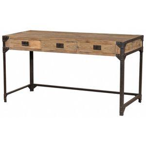 bureau atelier bois et m tal 150 cm fabbrica achat. Black Bedroom Furniture Sets. Home Design Ideas