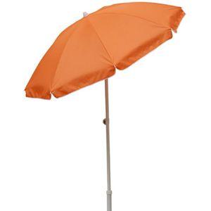 PARASOL Parasol rond centré coloris orange, Dim : H 215 x