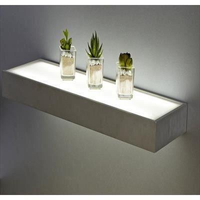 tablette etag re lumineuse en aluminium achat vente tablette etag re lumineuse aluminium. Black Bedroom Furniture Sets. Home Design Ideas