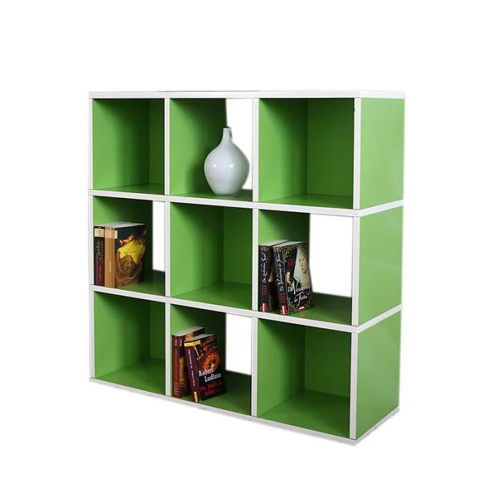 Etag re verte 93 cm avec 9 cases achat vente meuble - Etagere 9 cases ...