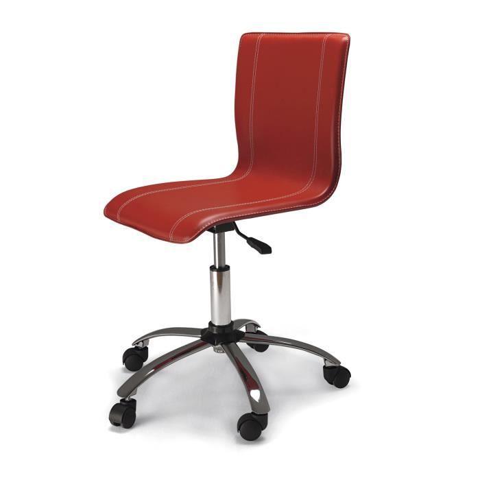Chaise de bureau tudiant rouge dimensions achat vente chaise de bu - Chaise de bureau rouge ...