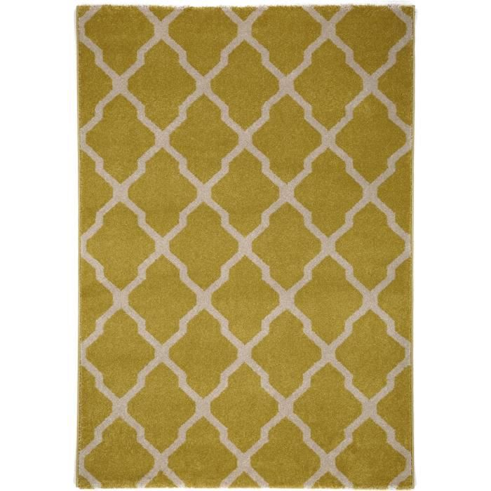 benuta tapis lotus jaune 200x290 cm achat vente tapis cdiscount. Black Bedroom Furniture Sets. Home Design Ideas