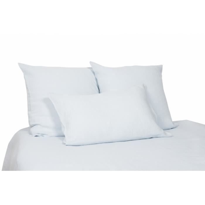 housse de couette lin lav azur viti harmony achat vente housse de couette cdiscount. Black Bedroom Furniture Sets. Home Design Ideas