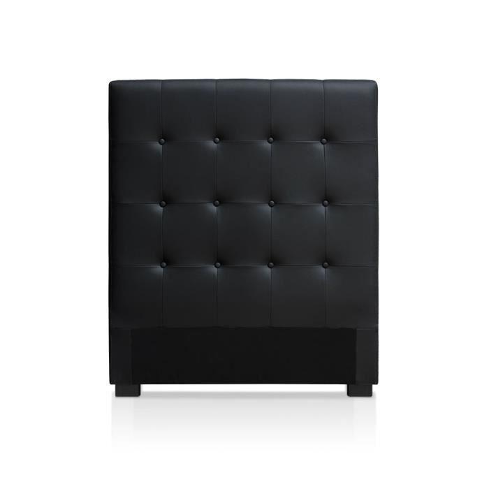 T te de lit luxor 90cm noir achat vente t te de lit cdiscount - Tete de lit capitonnee noir ...