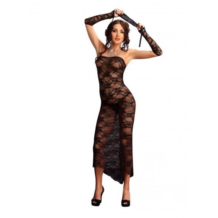 Fond de robe noir avec dentelle