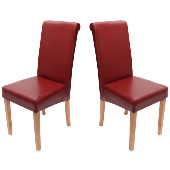 Lot de 2 chaises de salle manger fauteuil nov achat for Fauteuil design salle a manger