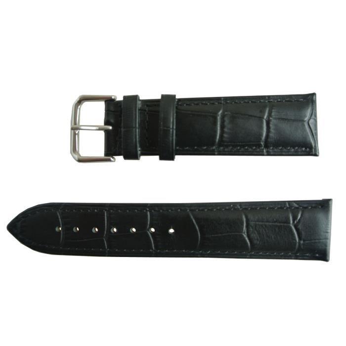 bracelet montre cuir homme 18 mm achat vente pas cher. Black Bedroom Furniture Sets. Home Design Ideas