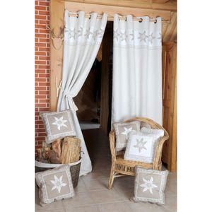 rideau deco montagne achat vente rideau deco montagne pas cher cdiscount. Black Bedroom Furniture Sets. Home Design Ideas