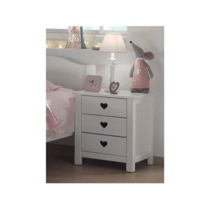 chevet coeur achat vente chevet coeur pas cher cdiscount. Black Bedroom Furniture Sets. Home Design Ideas