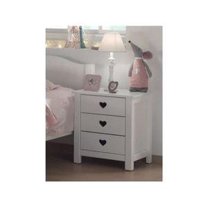 chevet coeur achat vente chevet coeur pas cher cdiscount. Black Bedroom Furniture Sets. Home Design Ideas