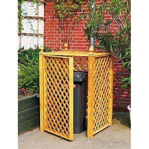 cache conteneur en treillis de bois achat vente abri jardin chalet cache conteneur en. Black Bedroom Furniture Sets. Home Design Ideas