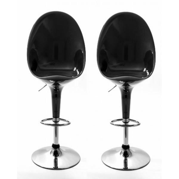 chaises de bar egg noir lot de 2 achat vente. Black Bedroom Furniture Sets. Home Design Ideas