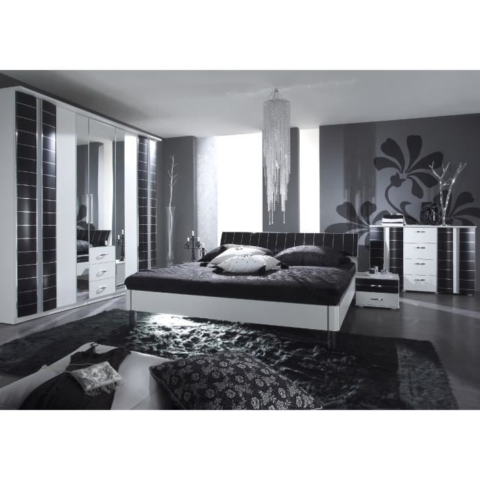 Chambre coucher ref black white2 achat vente for Chambres a coucher completes adultes