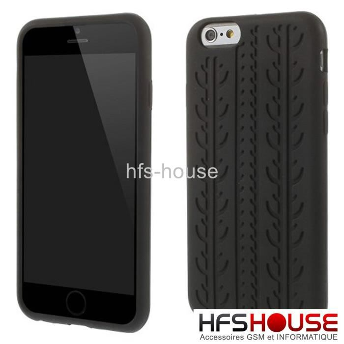 Iphone 6 4 7 39 silicone noir coque housse etui achat for Housse silicone iphone 7