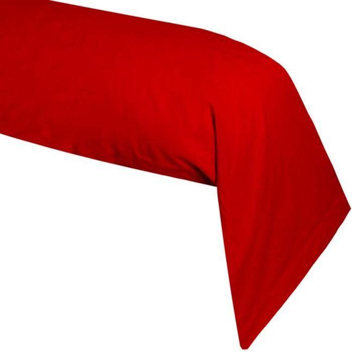 taie de traversin rouge achat vente taie de traversin rouge pas cher cdiscount. Black Bedroom Furniture Sets. Home Design Ideas