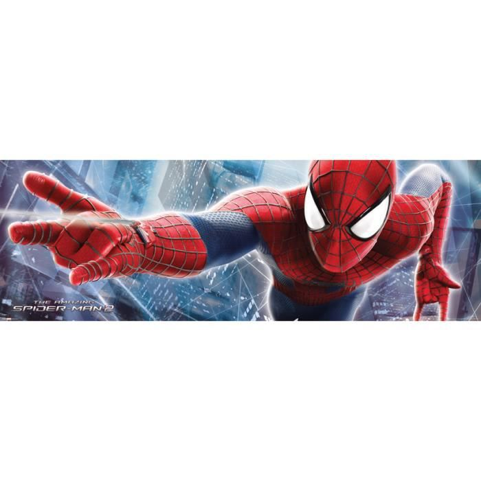 spiderman grand poster 53 x 158 cm achat vente affiche cdiscount. Black Bedroom Furniture Sets. Home Design Ideas