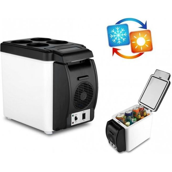 203002 frigo portable pour voiture 2 en 1 chaud et froid de 6l alimentation 12v r frig rateur. Black Bedroom Furniture Sets. Home Design Ideas