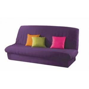 Housse de clic clac uni prune violet achat vente housse de canape cdi - Housse de clic clac violet ...