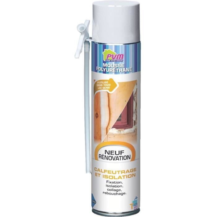 Mousse polyur thane pvm 750 ml avec gants achat vente joint d 39 ta - Mousse agglomeree polyurethane ...