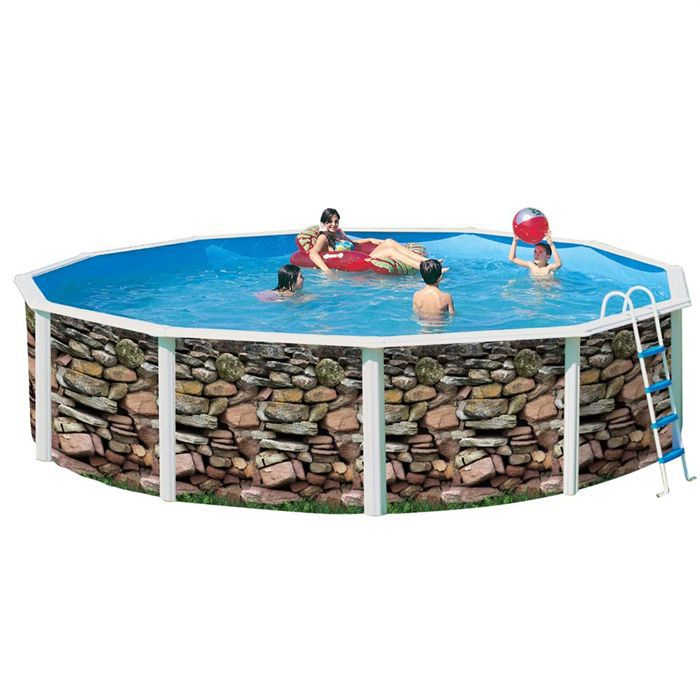 Mur piscine en acier circulaire 350x120 achat vente piscine piscine acier mur 350x120 for Achat piscine acier