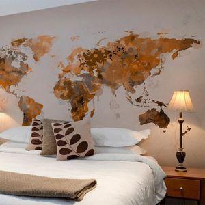affiche carte du monde achat vente affiche carte du monde pas cher les soldes sur. Black Bedroom Furniture Sets. Home Design Ideas