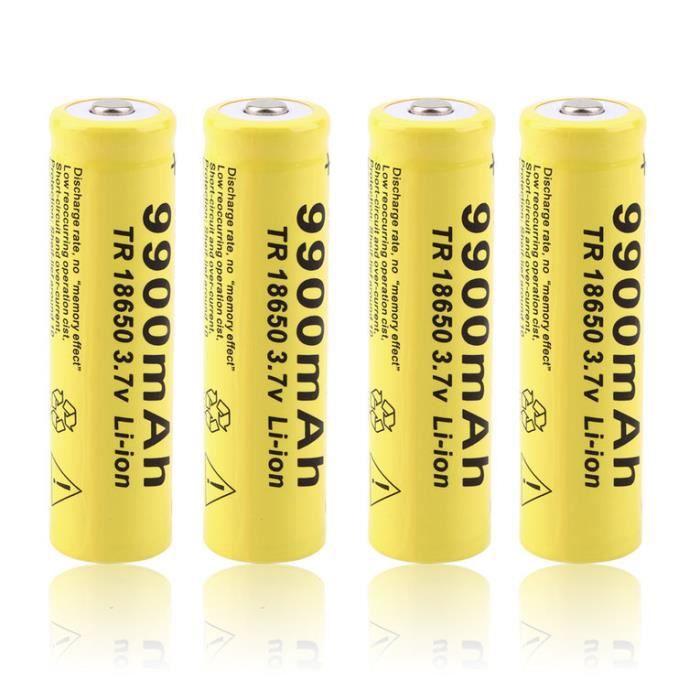 4pcs 3 7v 18650 9900mah li ion piles batteries rechargeable jaune achat vente piles. Black Bedroom Furniture Sets. Home Design Ideas