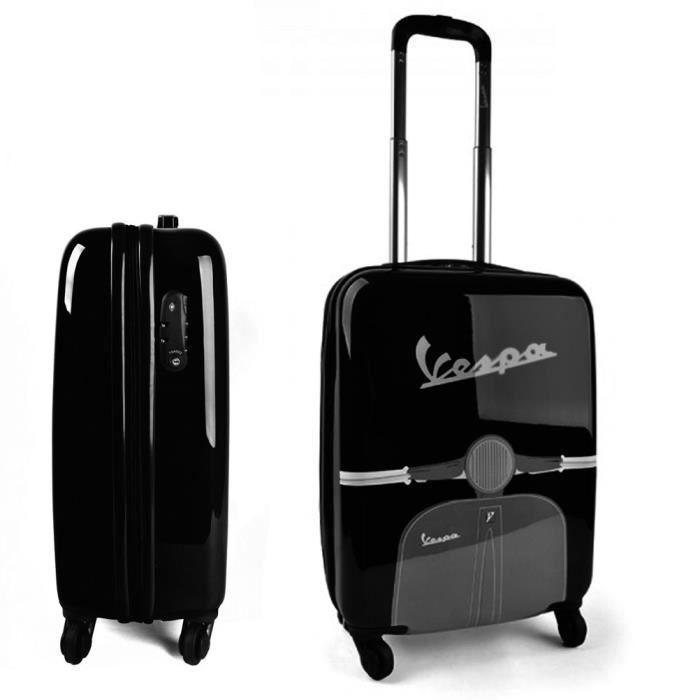valise coque vespa noire noir achat vente valise bagage 8028501260527 cdiscount. Black Bedroom Furniture Sets. Home Design Ideas