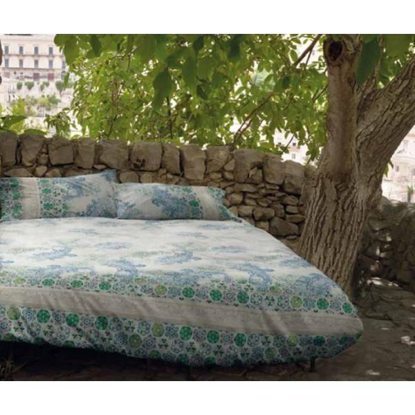 bassetti parure housse de couette sciacca v3 bleu 240x220 achat vente parure de couette. Black Bedroom Furniture Sets. Home Design Ideas