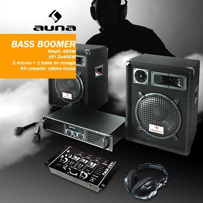 Kit ampli hp dj pack enceintes mixer casque set pack - Table de mixage professionnelle studio ...
