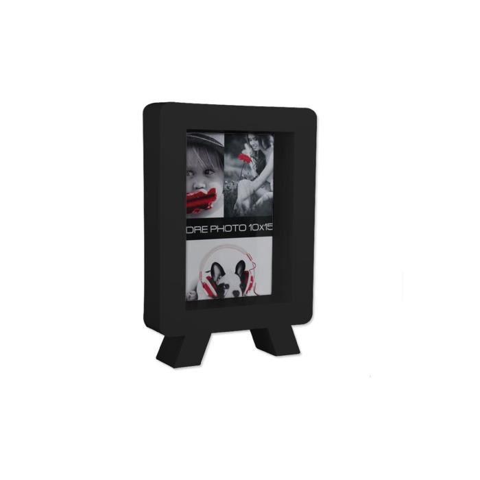 cadre photo 3d tv vertical noir achat vente cadre. Black Bedroom Furniture Sets. Home Design Ideas