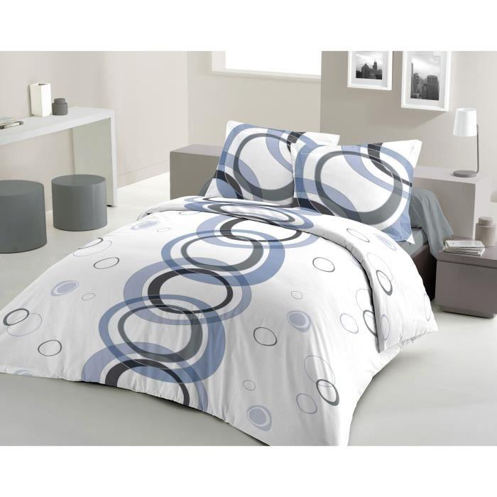 housse de couette mage 220x240cm bleu achat vente housse de couette soldes d t cdiscount. Black Bedroom Furniture Sets. Home Design Ideas
