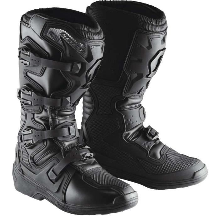 bottes moto cross scott 350 mx boot 2016 noir achat. Black Bedroom Furniture Sets. Home Design Ideas