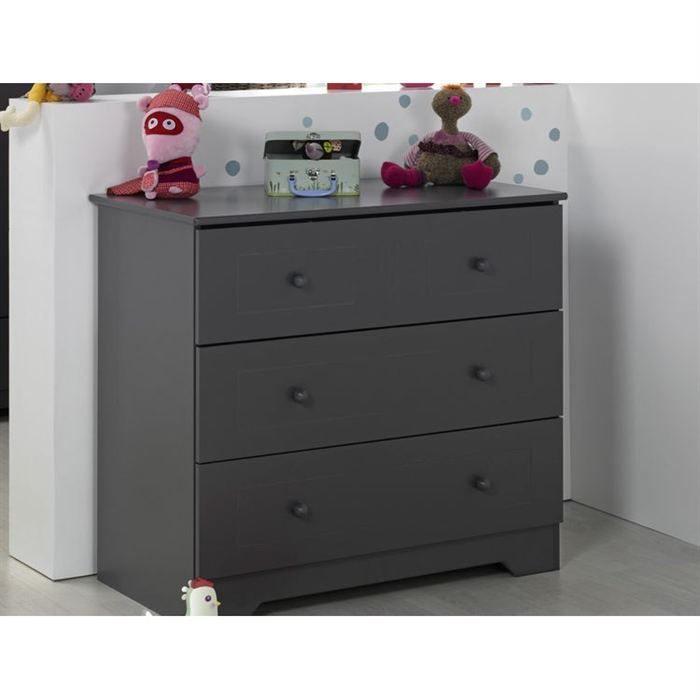 Sofamo commode oslo anthracite achat vente commode - Commode bebe cdiscount ...