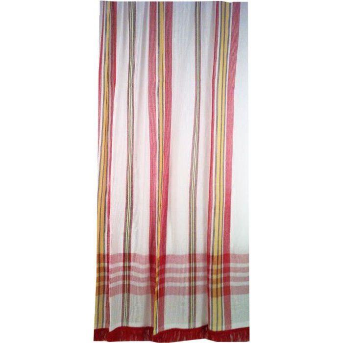 Rideau fils rouge achat vente rideau fils rouge pas cher les soldes sur cdiscount cdiscount - Rideau de porte exterieur ...
