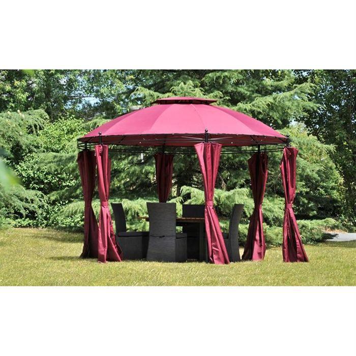 Tonnelle ronde scala framboise achat vente tonnelle - Tonnelle de jardin ronde ...