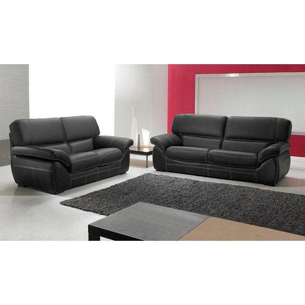Canap en cuir bardot achat vente canap sofa for Achat canape cuir