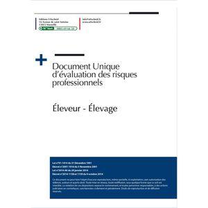 DOCUMENT TYPE  Document unique métier : Éleveur - Élevage Choix d