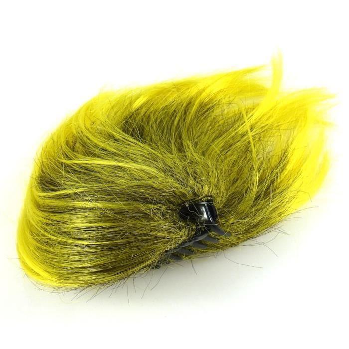 accessoires cheveux pince cheveux avec rajout de cheveux jaune achat vente barrette. Black Bedroom Furniture Sets. Home Design Ideas