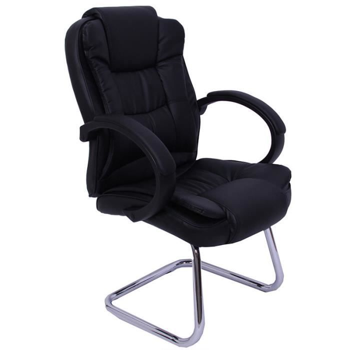 fauteuil chaise de bureau sans roulette ergonomiqu achat. Black Bedroom Furniture Sets. Home Design Ideas