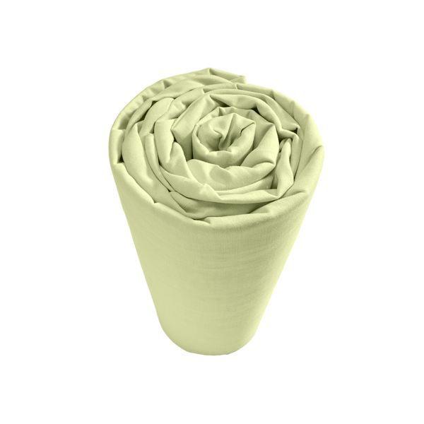 Drap housse 90x190cm coton bio vert 57 fils cm achat for Drap housse coton bio