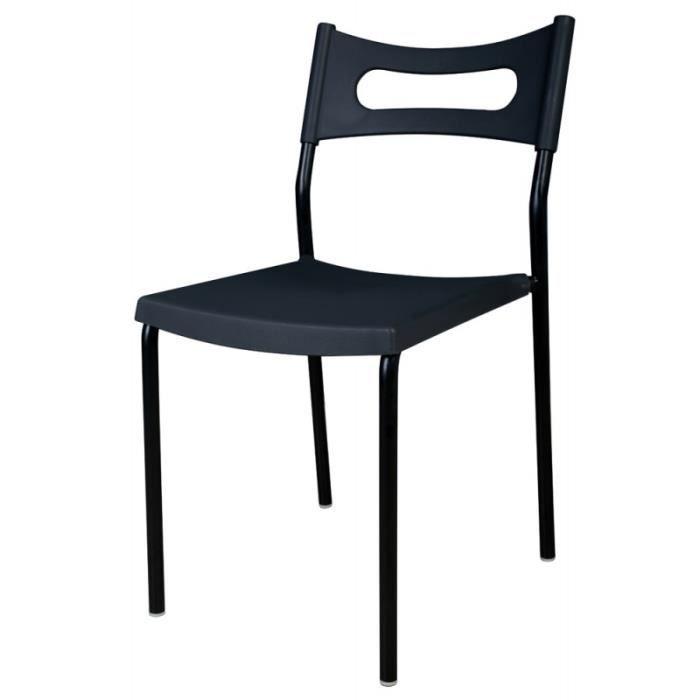 lot de 4 chaises noires maison design. Black Bedroom Furniture Sets. Home Design Ideas