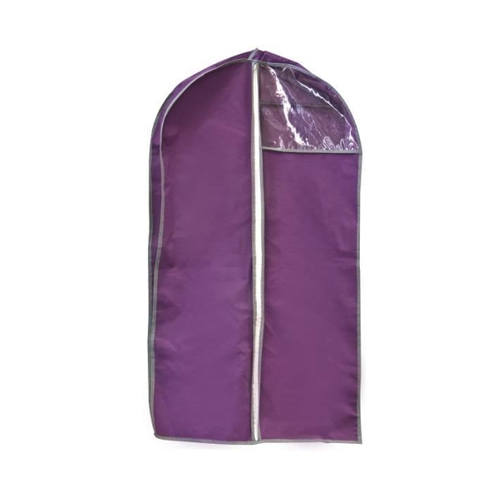 housse de rangement sur cintre pour v tements 106 x 61 cm rangement penderie achat vente. Black Bedroom Furniture Sets. Home Design Ideas