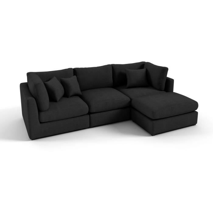 canap d 39 angle en tissu de qualit sandro achat vente canap sofa divan cdiscount. Black Bedroom Furniture Sets. Home Design Ideas
