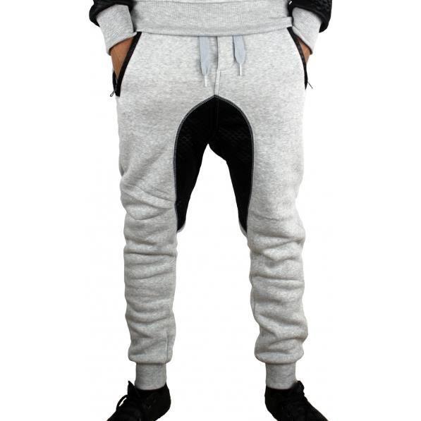 Sarouel homme en molleton gris Gris