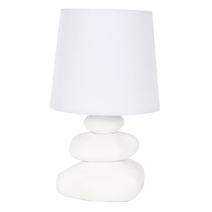 Paris Prix Lampe Galets Blanc 30cm Achat Vente