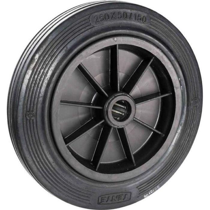 roue pleine 250 x 50mm axe de 25mm achat vente roue roulette cdiscount. Black Bedroom Furniture Sets. Home Design Ideas